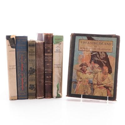 "N. C. Wyeth Illustrated ""Treasure Island"" by R. L. Stevenson and More Classics"