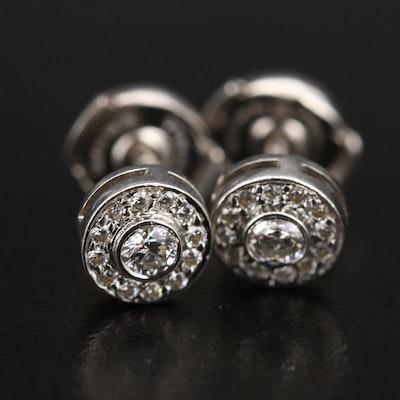 Tiffany & Co. Platinum Diamond Stud Earrings