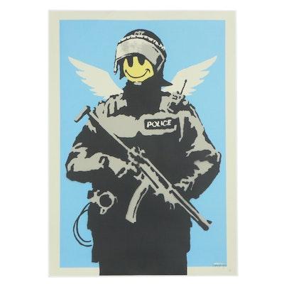 "Giclée After Banksy ""Smiley Police Trooper,"" 21st Century"