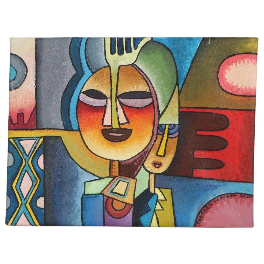 "Taofeek Olalekan Oil Painting ""The Invincible Hand"""