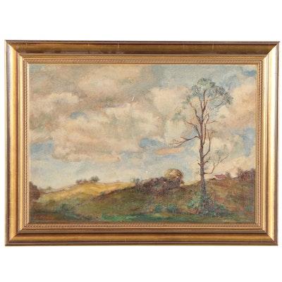 Ernest C. Ropkey Landscape Oil Painting, 1935