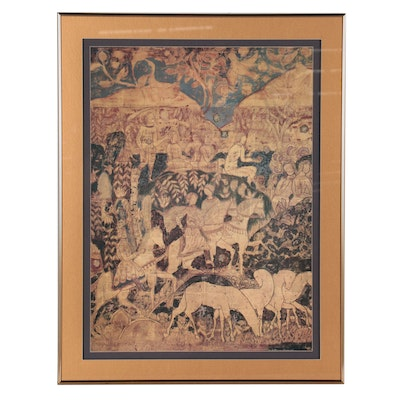 """Offset Lithograph After Charles Prendergast """"The Riders"""""""