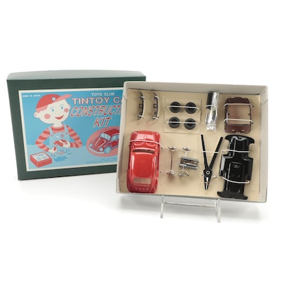 Japanese Toys Club Tin Car Volkswagen Beetle Construction Kit, Packaging, 1960s