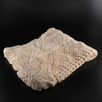Handmade Crocheted Lace Bedspread