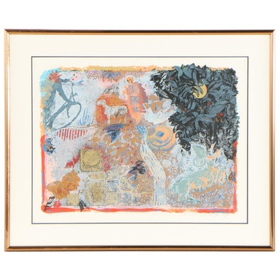 """Shraga Weil Serigraph From """"The Seasons of the Sharon Valley"""""""