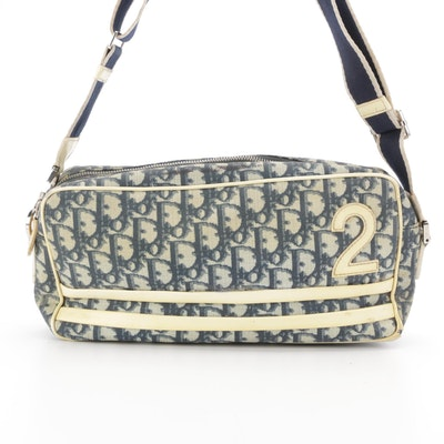 Christian Dior No. 2 Baguette Bag in Trotter Coated Canvas and Patent Leather