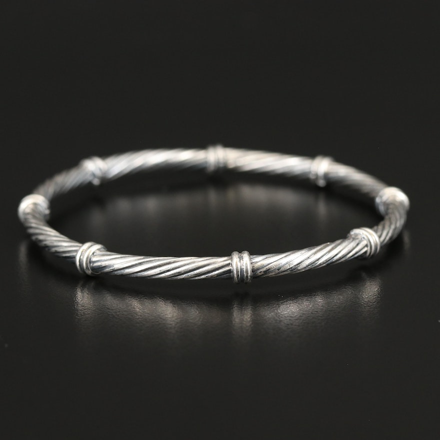 Sterling Twisted Bangle