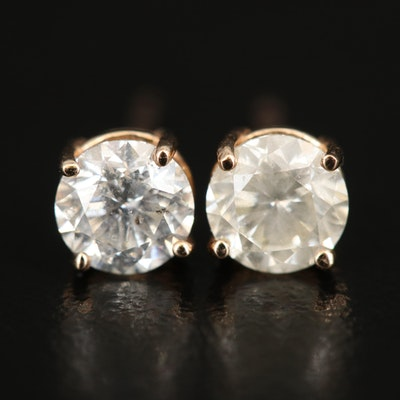 14K 1.15 CTW Diamond Stud Earrings