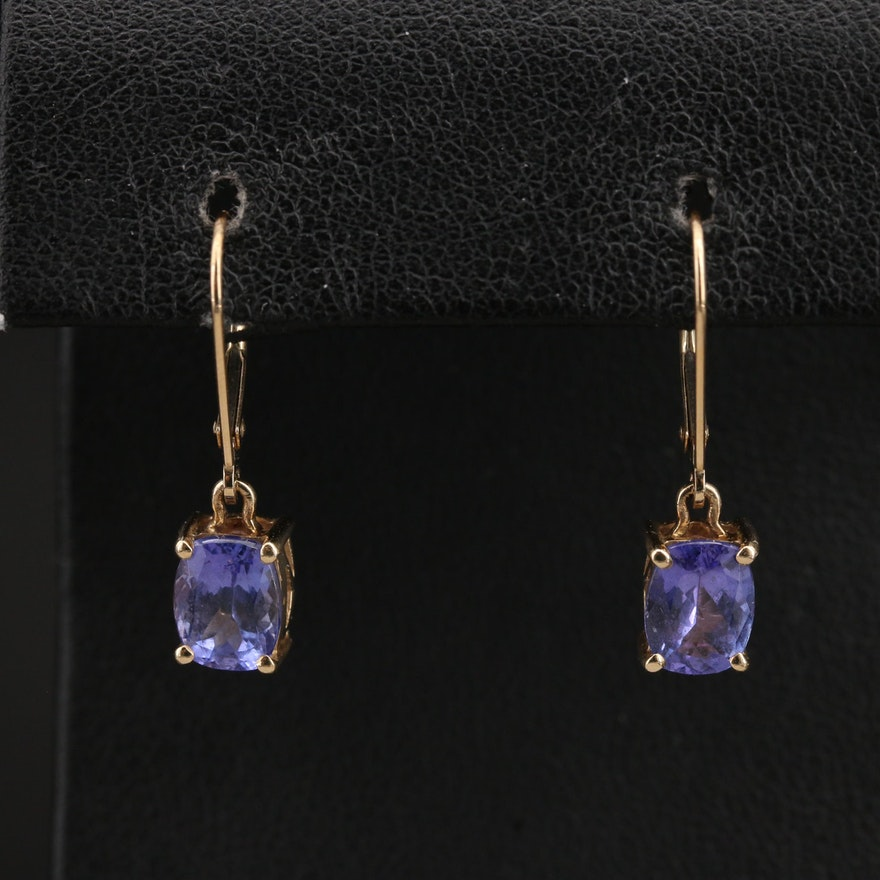 14K Tanzanite Drop Earrings