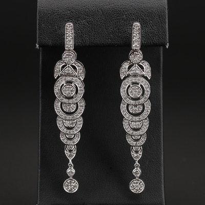 14K 2.45 CTW Diamond Drop Earrings