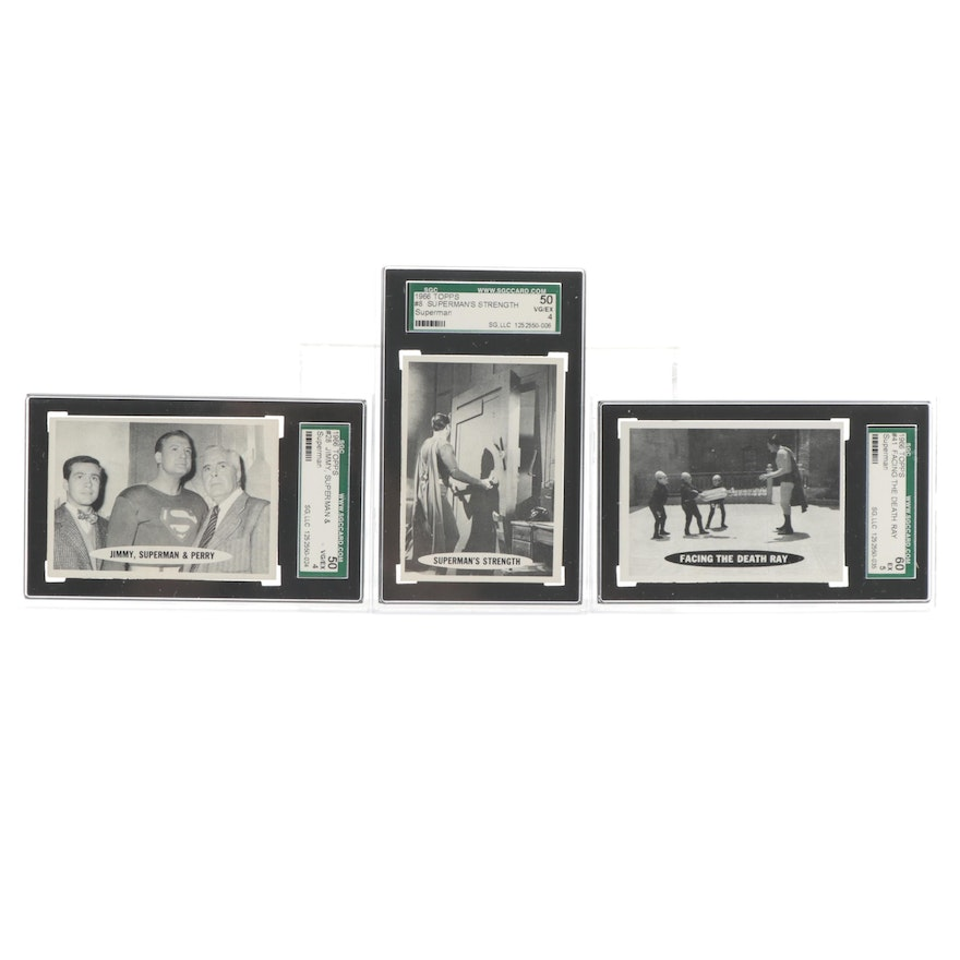 """1966 """"Superman"""" Topps SGC Graded Trading Cards"""