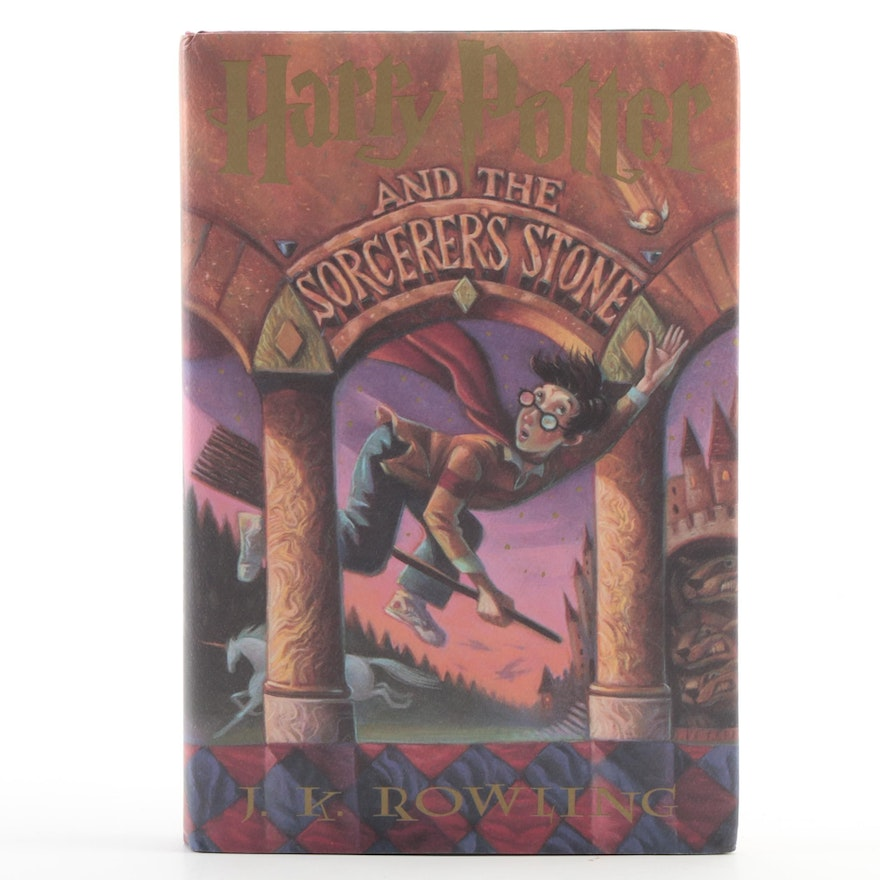 """First Book Club Printing """"Harry Potter and the Sorcerer's Stone,"""" 1998"""