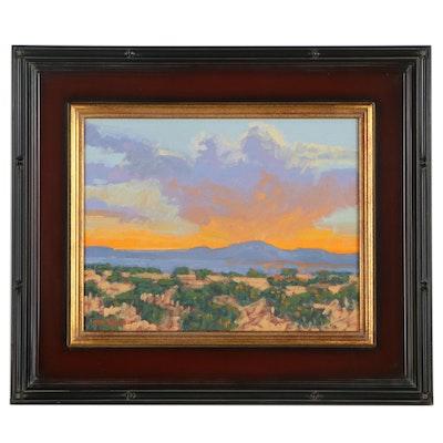 """Marc A. Graison Landscape Oil Painting """"Clearing Storm,"""" 2021"""