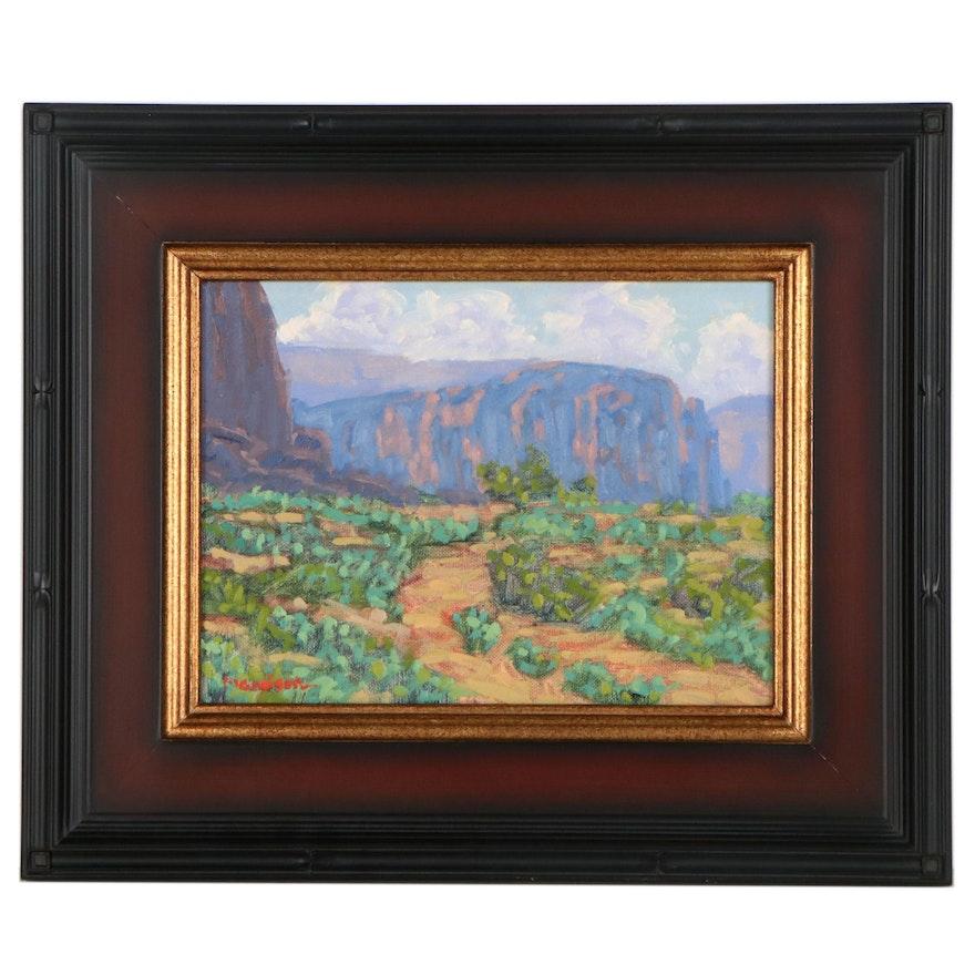 """Marc A. Graison Landscape Oil Painting """"Monument Valley,"""" 2021"""