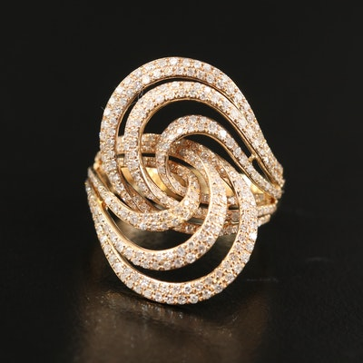 14K 1.11 CTW Diamond EFFY Swirl Ring