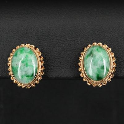 14K Jadeite Earrings