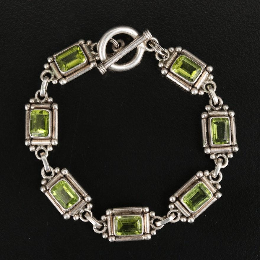 Sterling Peridot Bracelet