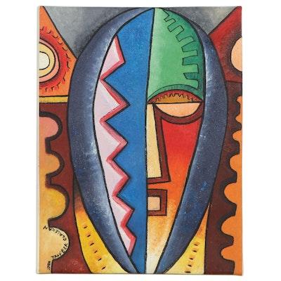 "Taofeek Olalekan Oil Painting ""Homo-Sapien"""