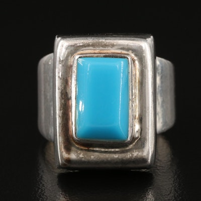Mexican Sterling Silver Faux Turquoise Ring