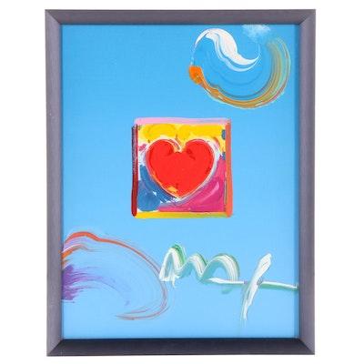 "Peter Max Embellished Digital Print ""Heart Series Version 1 #591,"" 2009"