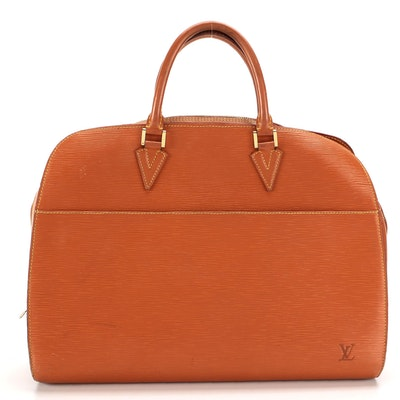 Louis Vuitton Sorbonne Briefcase Bag in Cipango Gold Epi and Smooth Leather