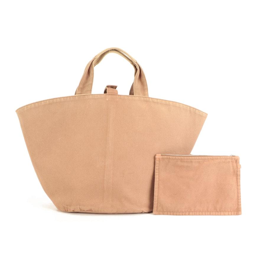 Hermès Panier de Plage Tote Bag in Brown Canvas