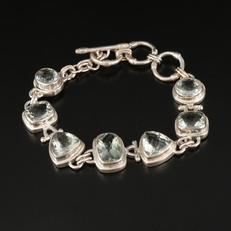 Aryo Sterling Silver and Diaspore Bracelet