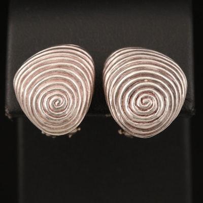 Vintage Angela Cummings Sterling Spiral Clip Earrings