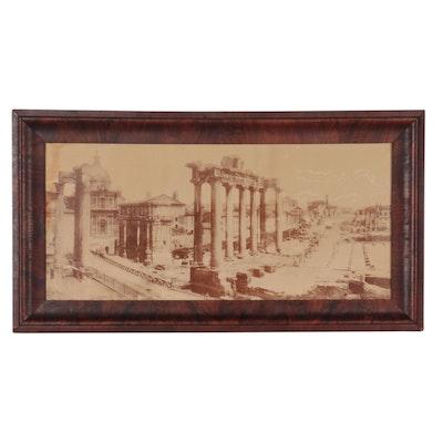 Giacomo Brogi Posthumous Carbon Print of Forum Romanum, Circa 1885