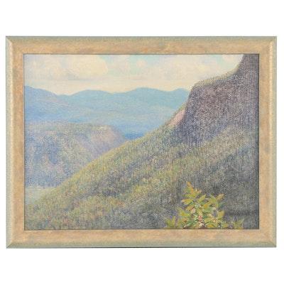 Clifton Wheeler Hillside Landscape Oil Painting, 1932