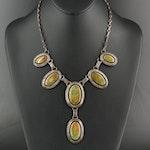 Elaine Sam Navajo Diné Sterling Silver Turquoise Necklace