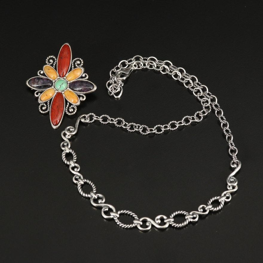 Carolyn Pollak for Relios Conveter Pendant Necklace