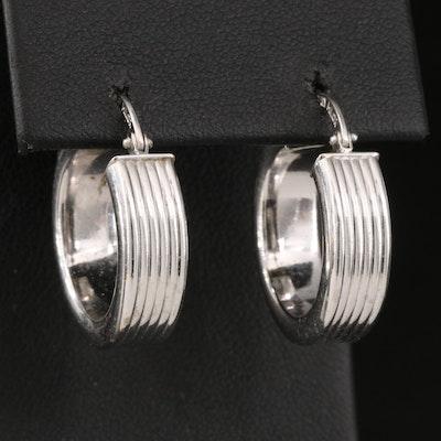 Milor 14K Fluted Hoop Earrings