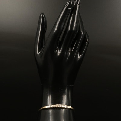 14K Diamond Graduated Stationary Bracelet