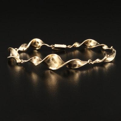 14K Twisted Link Bracelet