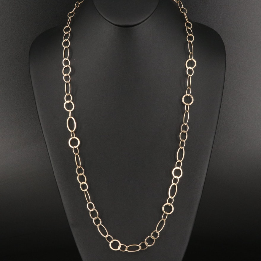 Sterling Silver Cable Chain Necklace