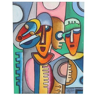 "Taofeek Olalekan Oil Painting ""Hope of Tomorrow"""