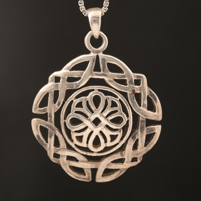 Sterling Celtic Knot Pendant Necklace