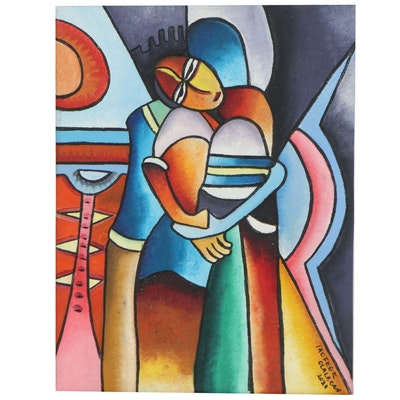 "Taofeek Olalekan Oil Painting ""In Accord,"" 2020"