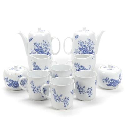 "Royal Worcester ""Rhapsody"" Porcelain Coffee Set, 1975"
