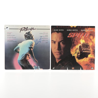 Keanu Reeves, Kevin Bacon Signed Laserdisc and LP Record, COAs