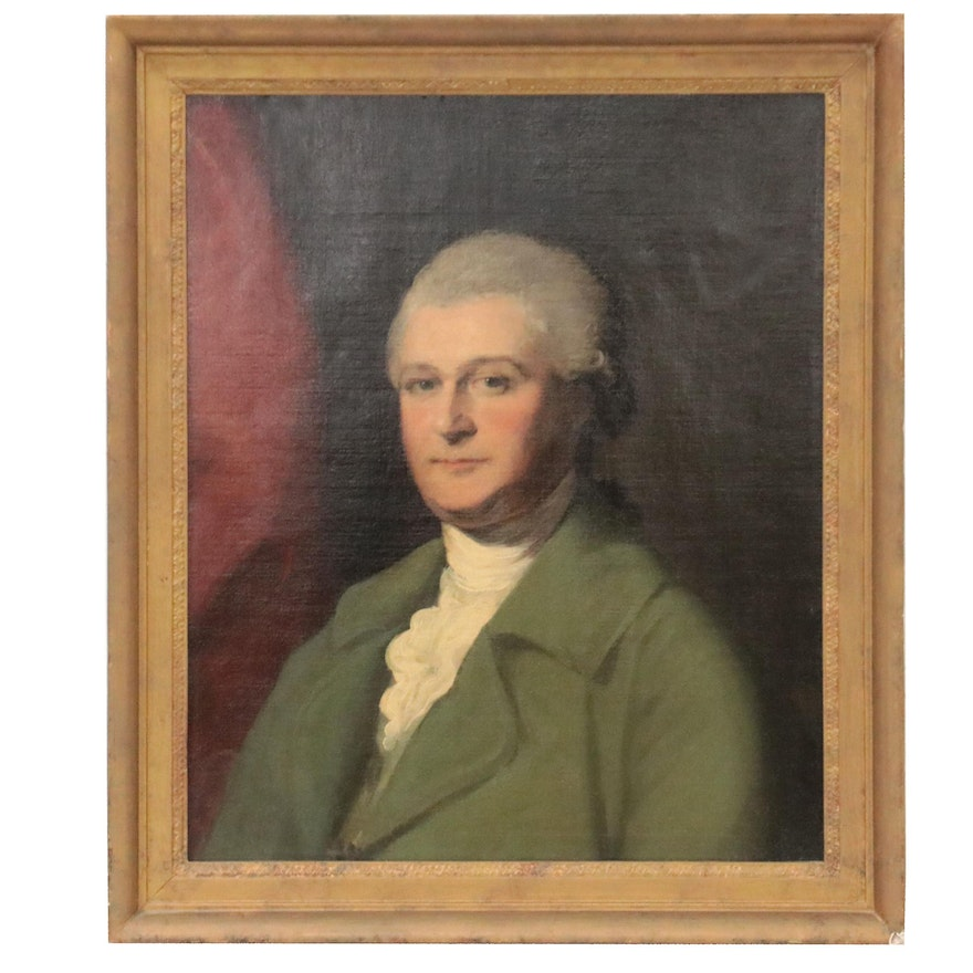 Continental Portrait Oil Painting of Gentleman, Early 19th Century