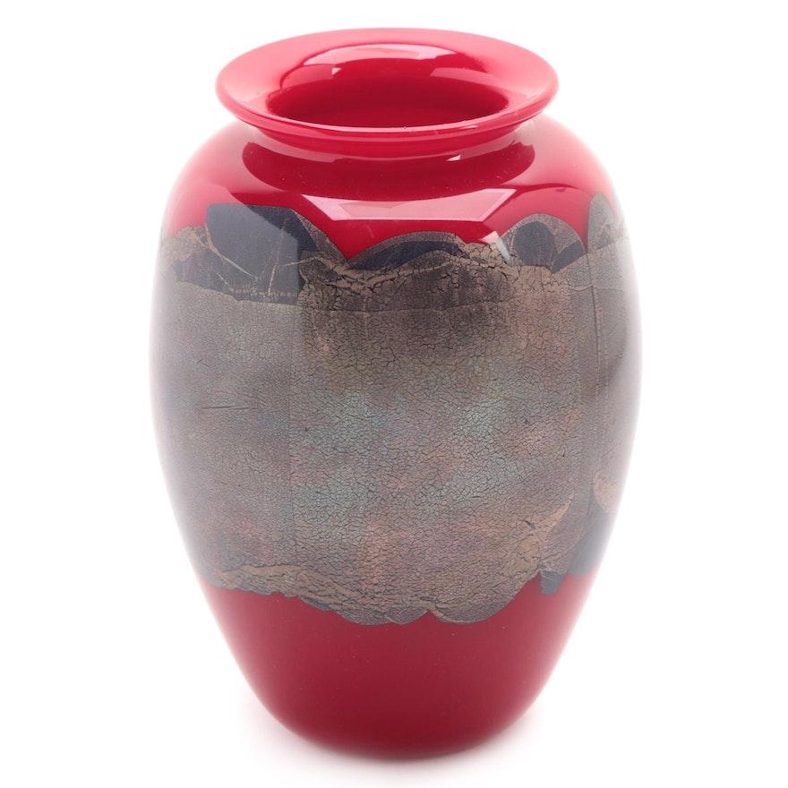 Carlson Art Red Glass Bud Vase, 1997