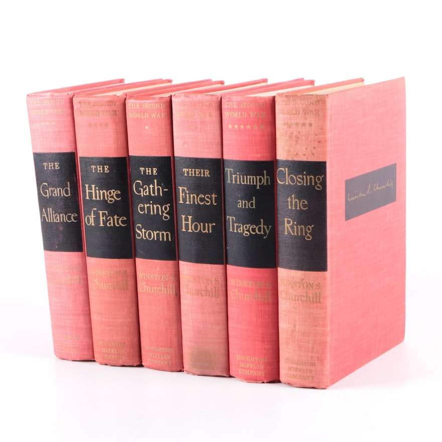 """First Edition """"The Second World War"""" Complete Set by Winston Churchill"""