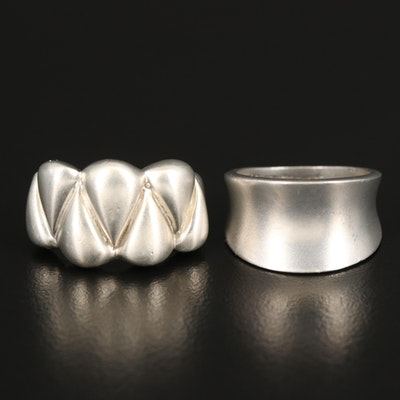 Sterling Silver Satin Finished Rings
