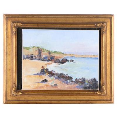 "Michele Helders Oil Painting ""The Coast,"" 2020"
