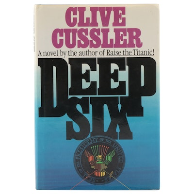 """Signed Second Printing """"Deep Six"""" by Clive Cussler, 1984"""