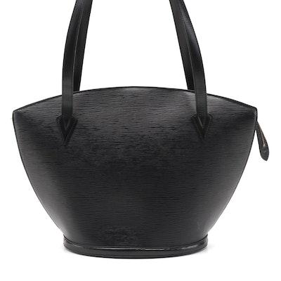 Louis Vuitton St. Jacques PM Shoulder Bag in Black Epi Leather