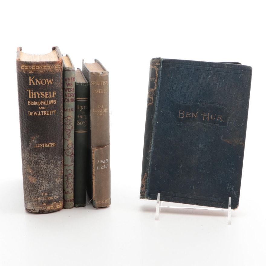"""""""Ben-Hur"""" by Lew Wallace and More Books, Late 19th to Mid-20th Century"""