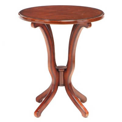 Contemporary Mahogany-Stained Side Table